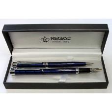 R03-302 Rinkinys parkeris+tušinukas mėlynas 97507B+F REGAL