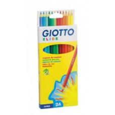 R06-060 Spalvoti pieštukai 24sp ELIOS 275100 FILA/LYRA