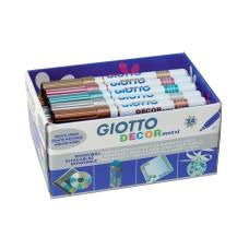 R07-1274 Flomasteriai 24 vnt.GIOTTO DECOR METAL 524500 FILA/LYRA