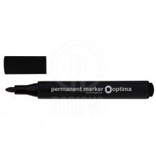R13-632 Tribriaunis permanentinis žymiklis OPTIMA 1-3mm juodas 16107-01 PAPIRUS