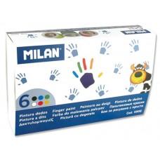 R15-119 Dažai 6sp piešti pirštais 5906 MILAN