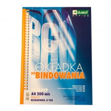 T05-311 Skaidrūs viršeliai, PVC, A4, 200mic, 100vnt., LEVIATAN