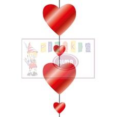 X01-800 Pakabinama dekoracija ŠIRDIS 11405180 SUSY CARD/6
