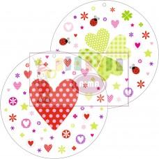 X01-801 Pakabin.3D dekoracija MINI ŠIRDYS 4vnt 11405883 SUSY CARD/5