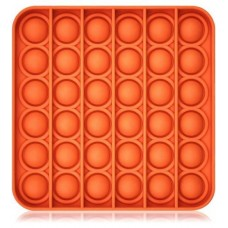 Antistresinis žaislas POP IT 13x13cm kvadrat. oranžinis 481187 STARPAK, Z03-110
