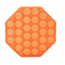 Antistresinis žaislas POP IT 13x13cm šešiakampis oranžinis 48118790 STARPAK, Z03-112
